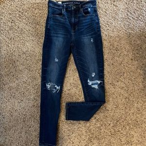 AE distressed highest rise jegging